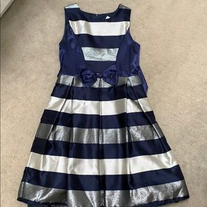 Dorissa Party Dress Holiday Special Occasion gold